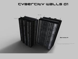 CyberCity Walls 01 Daz Promos 04