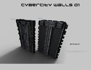 CyberCity Walls 01 Daz Promos 07