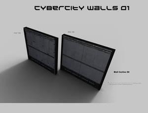 CyberCity Walls 01 Daz Promos 08