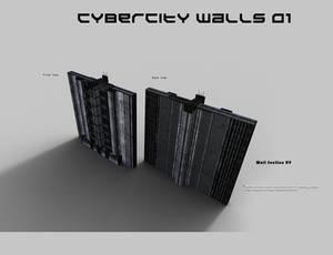 CyberCity Walls 01 Daz Promos 09