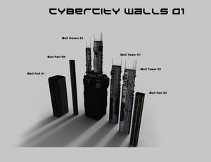 CyberCity Walls 01 Daz Promos 10