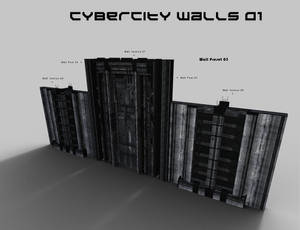 CyberCity Walls 01 Daz Promos 11