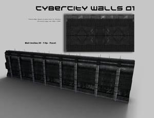 CyberCity Walls 01 Daz Promos 12