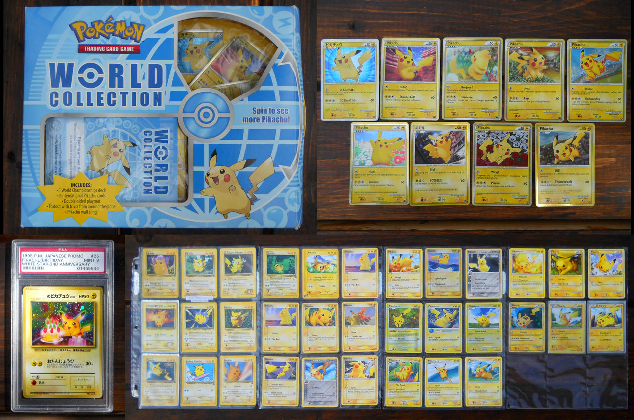 Pikachu Card Collection Updated 3 by Xeerinare on DeviantArt – Birthday Pikachu Card
