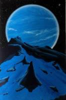 Night on Triton by Axel-Astro-Art