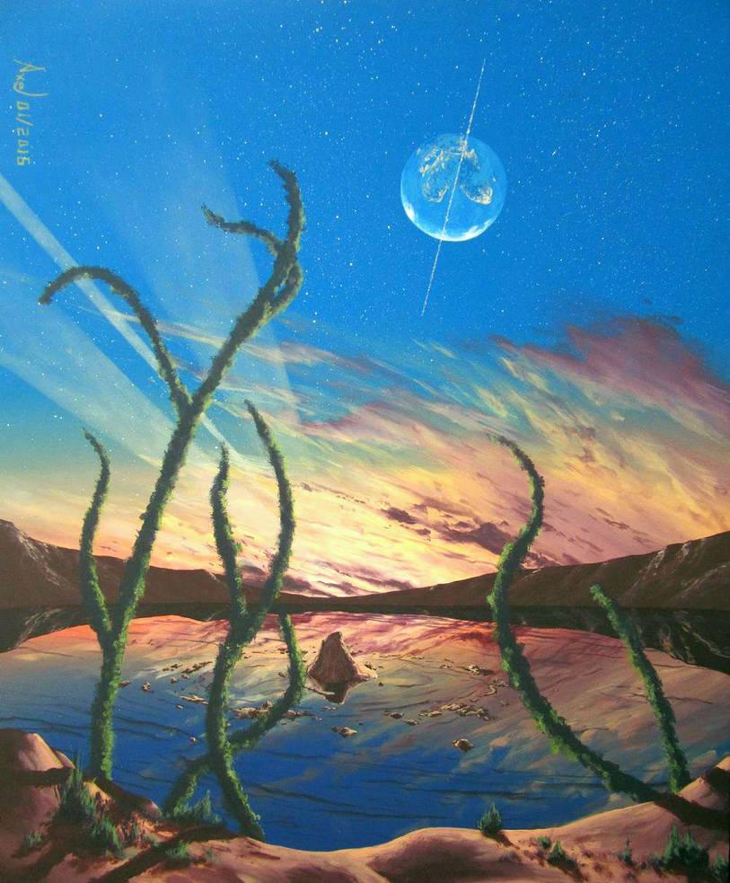 Lunar dawn by Axel-Astro-Art