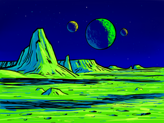 Lemon space fantasy by Axel-Astro-Art