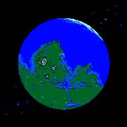 Blue Mars by Axel-Astro-Art