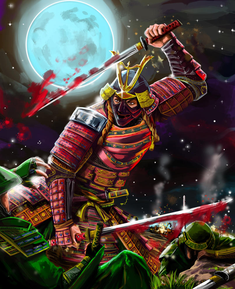Badass Wallpapers: Dual-katana-wielding-samurai-badass By RossoWinch On