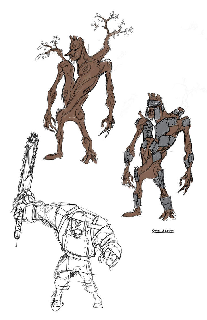 monster sketches treant and cyclops charybdis by transbot9 on