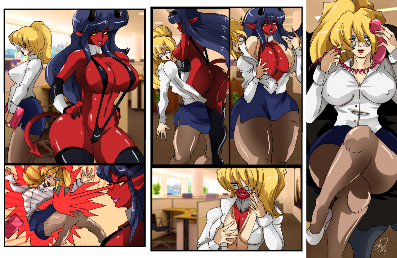 [COMM] Demoness and the Secretary skinsuit by OAD-art