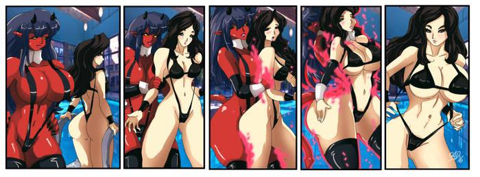 [COMM] Demoness absorbs the Bikini Model