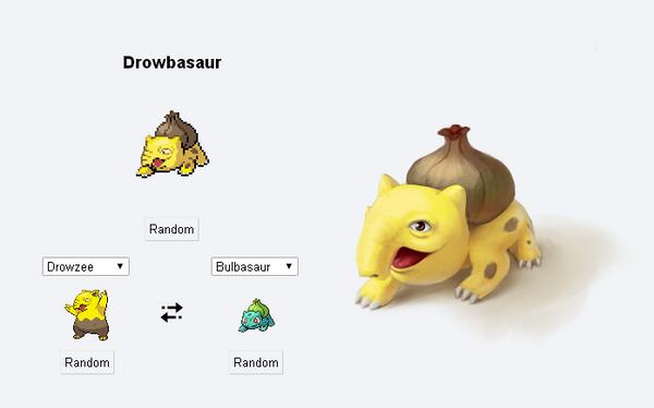 Drowbasaur - Pokemon Fusion 02 by Evolemon