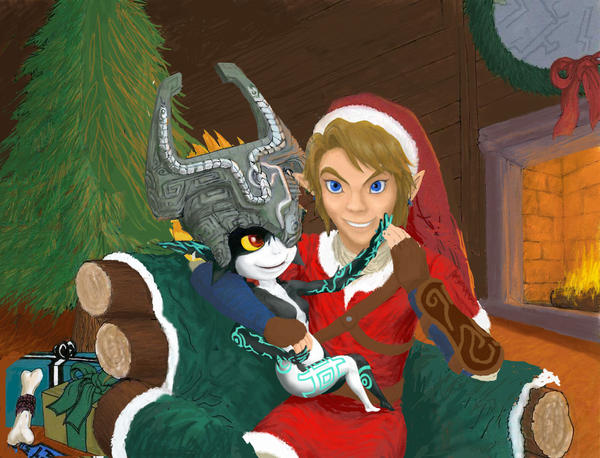 Midna x Link Christmas WIP by Ruthac-Arus on DeviantArt