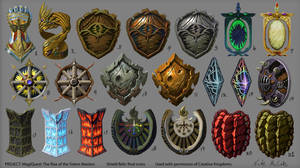 Shield Relics final icons - MagiQuest 3.0 by Ruthac-Arus