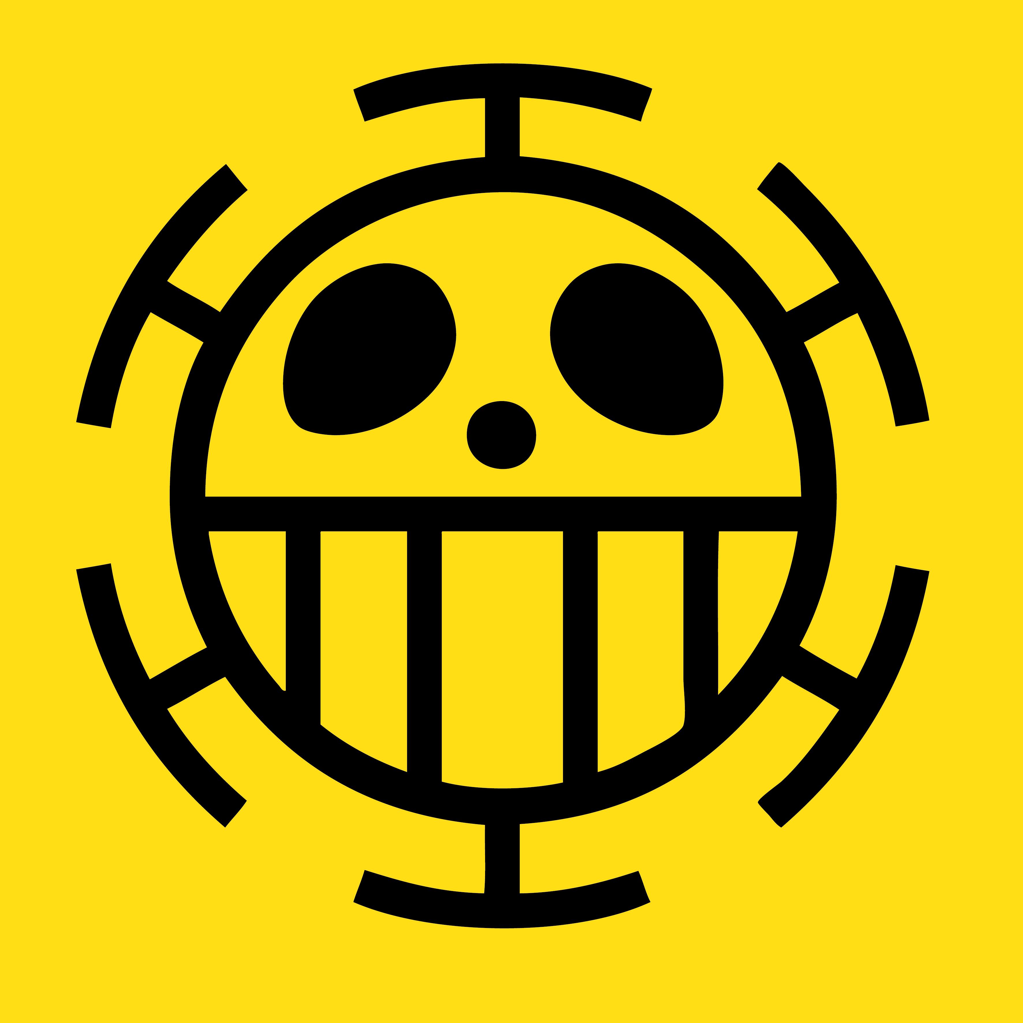 One Piece Trafalgar Law Flag Emblem by elsid37