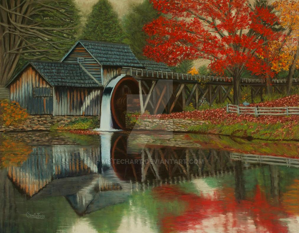 Wet Mabry Mill by MsTechArt