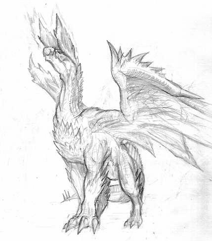 Sketche Alatreon By Neagyanvshironoa On Deviantart