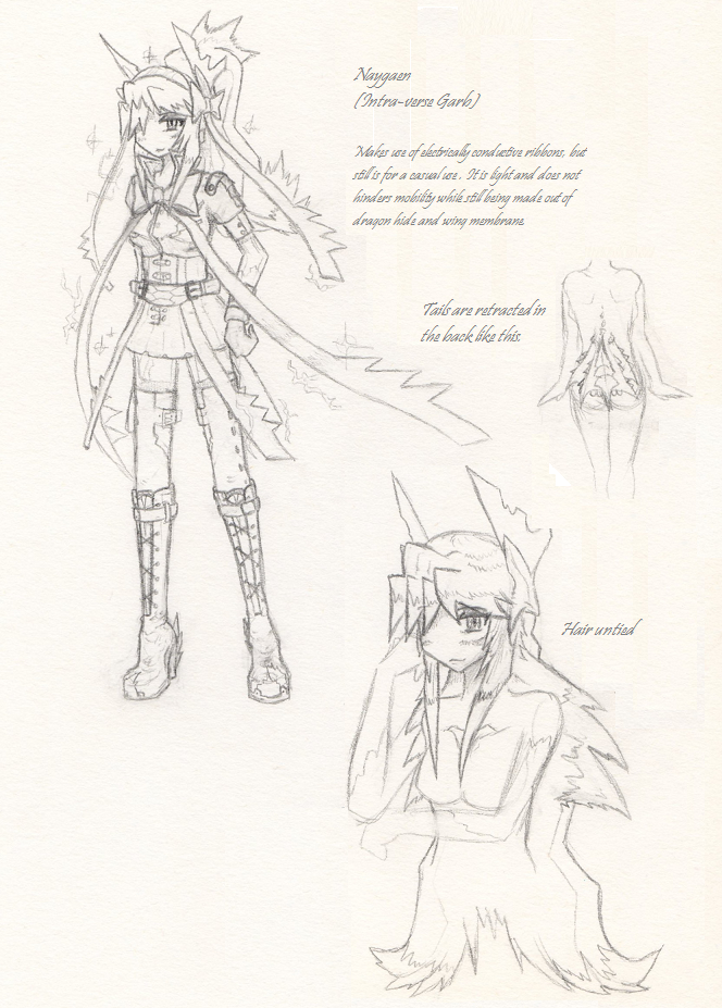 Rough sketch: Naygaen, the new OC 2 by NeagyanVShironoa