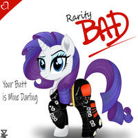 Rarity Bad 1987 by TheRETROart88