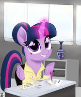 Twilight at the office by TheRETROart88