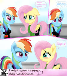 Rainbow Dash And Fluttershy Valentine Special by TheRETROart88
