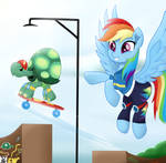 Rainbow Dash God job tank by TheRETROart88