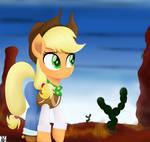 Applejack Walking In Desert by TheRETROart88