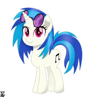 Vinyl Scratch Mlp The Movie vector by TheRETROart88
