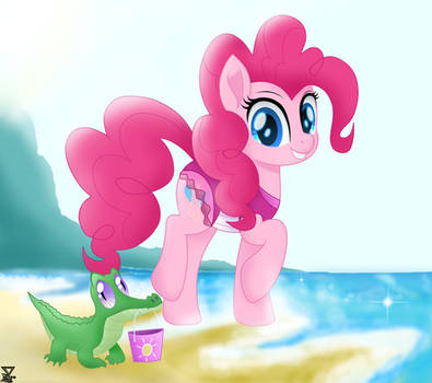 Pinkie pie in the beach by TheRETROart88