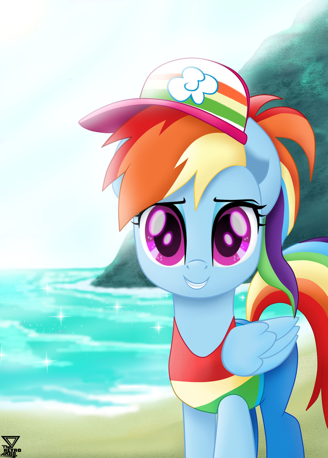 Mad Rainbow Dash vector by arifproject on DeviantArt