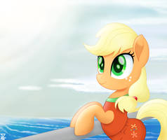 AppleJack in the beach 2 (BONUS) by TheRETROart88