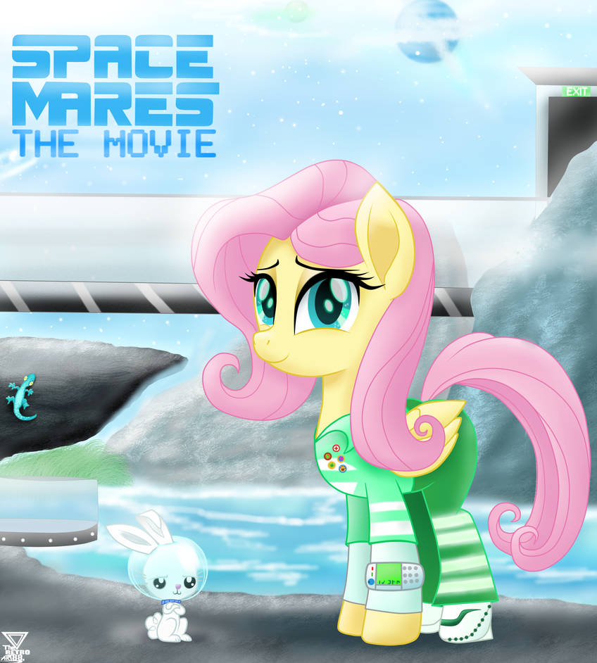 Fluttershy G5 SPACE MARES MOVIE (1990) by TheRETROart88