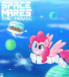 pinkie pie G5 SPACE MARES MOVIE (1990) by TheRETROart88