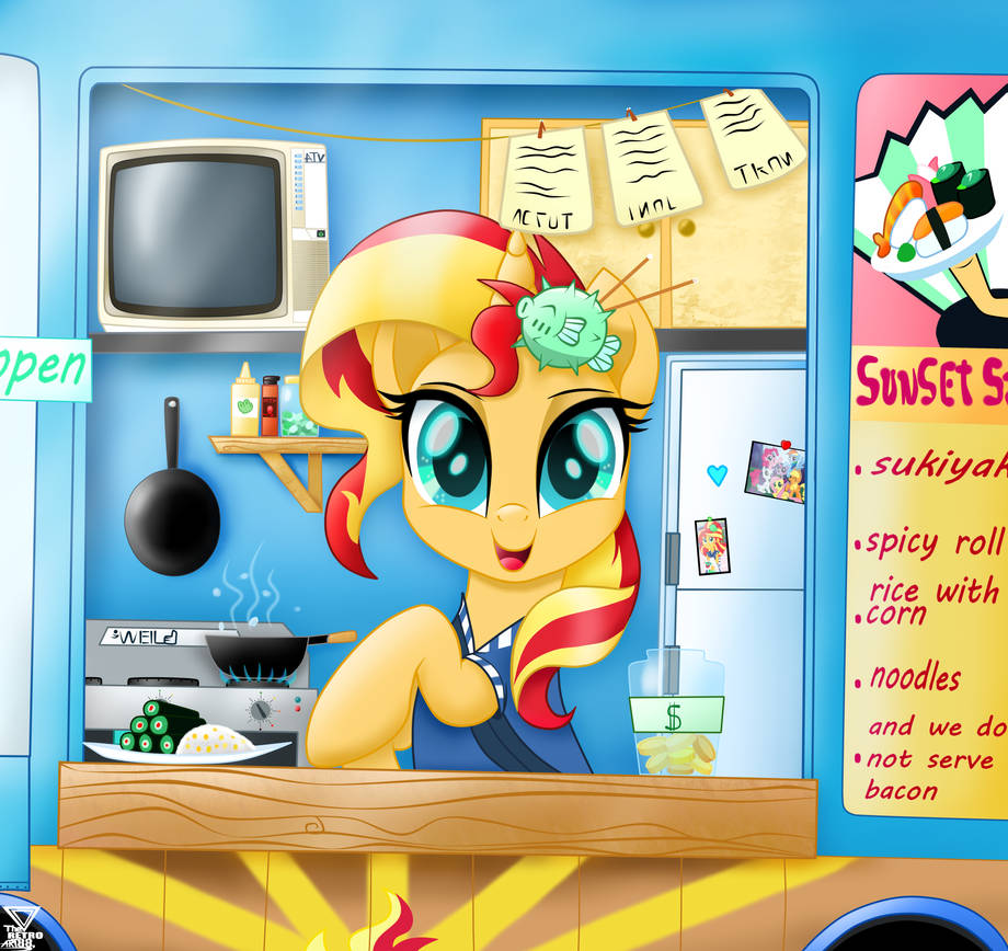 sunset_shimmer_hello_i_can_serve_you___s