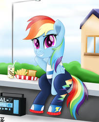 Rainbow Dash You were not in the school?