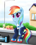 Rainbow Dash You were not in the school? by TheRETROart88