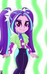Aria Blaze. hello everyone (EQG) by TheRETROart88