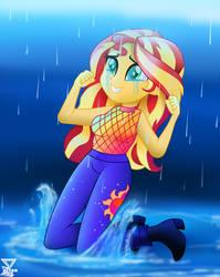 Sunset Shimmer Let it rain