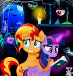 Twilight and Sunset Thriller by TheRETROart88