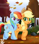 Fall weather friends MLP by TheRETROart88