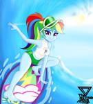 Rainbow dash surfing