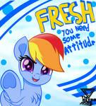 Rainbow dash attitude 90s style