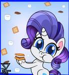 Rarity eating marshmallows (Pony Life)