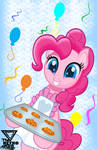 Happy Pinkie pie day by TheRETROart88