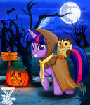 Twilight sparkle Spooky Night (Halloween special) by TheRETROart88
