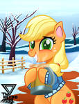 Applejack winter is coming (winter special) by TheRETROart88