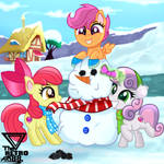 Cutie mark crusaders Winter games (Winter special) by TheRETROart88