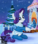Rarity christmas generosity (Christmas special) by TheRETROart88