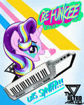 Keytar Time (Starlight glimmer day) by TheRETROart88